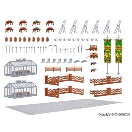 Vollmer 43644. Centrum ogrodnicze, zestaw akcesoriów, skala H0.