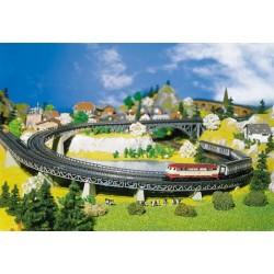 Faller 222542. Zestaw wiaduktowy, podjazd łukowy, 4 elementy, skala N (1:160).