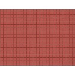 Auhagen 52422, Płyty chodnikowe czerwono-brązowe
