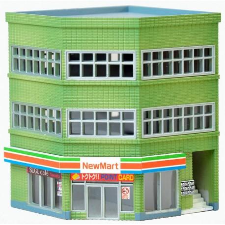 Tomytec 973781. Budynek narożny (sklep, restauracja, biura...), skala N (1:160).