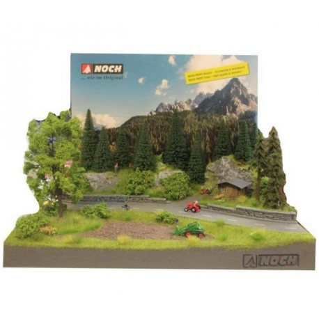 Noch 71207. Górska droga - makieta, gotowa diorama tematyczna. Skala H0.