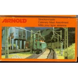Arnold 6050. Maszty kolejowej sieci trakcyjnej. 10 sztuk. Skala N (1:160).