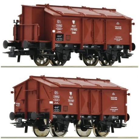 ROCO 76043, Zestaw: dwa wagony K15 (Sdwh, Sdw) PKP, ep.III, skala H0.