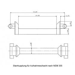 Fleischmann 00387401. Sprzęg sztywny sztabkowy, NEM 355, skala N.