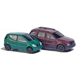 BUSCH 8310. Dwa samochody: MB A-Klasse + MB M-Klasse, skala N (1:160).