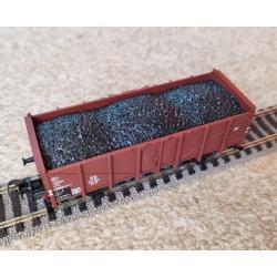 """TRIX 5537. Wagon węglarka Om12 z ładunkiem """"węgla"""", DB, ep. III-IV, skala H0."""