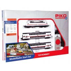 PIKO 57133, Zestaw startowy kolejki H0, BR146 IC DB pociąg piętrowy, skala H0.