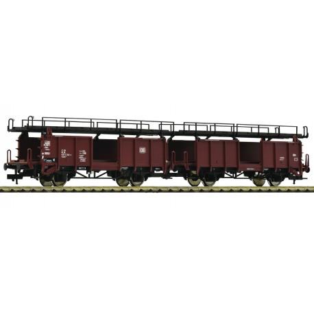 Fleischmann 522401. Podwójny wagon do transportu samochodów, Laaes 541, DB, ep.IV, skala H0.