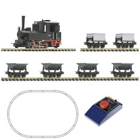 Roco 31035, Zestaw startowy: pociąg towarowy, parowóz i 6 wagonów typu lora, skala H0e (1:87 / 9 mm)