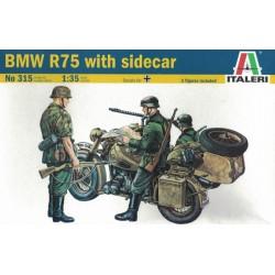 Italeri 0315. BMW R75 with sidecar, skala 1:35 (315)
