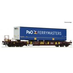 ROCO 76235. Wagon kieszeniowy T3 Sdgmns 33, AAE, z naczepą P&O, ep.VI, skala H0.