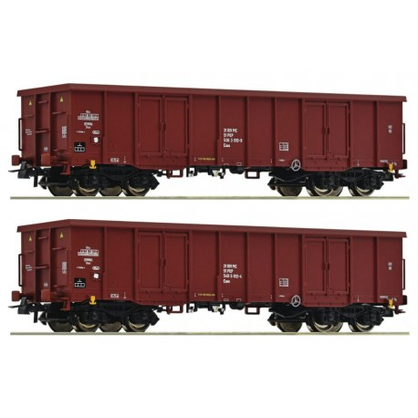 ROCO 76038. Zestaw: dwa wagony Eaos, PKP, ep.V, skala H0.