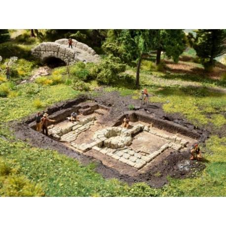 NOCH 58615, Wykopaliska: łaźnie rzymskie, model gotowy, skala H0 (TT, N)