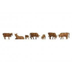 NOCH 47216. Krowy brązowe, skala TT (1:120).