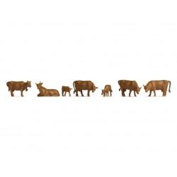 Noch 18216, Krowy brązowe, zestaw figurek w skali H0 1:87