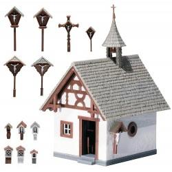 Faller 130235, Kaplica z drogą krzyżową, skala H0.