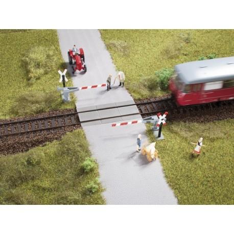 Auhagen 41625 Przejazd kolejowy, półrogatka, H0