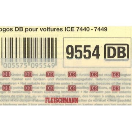 "Fleischmann 9554, Kalkomania ""DB"" N / TT"